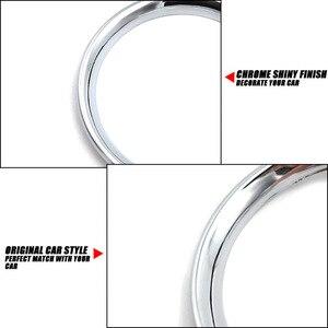 Image 5 - לניסן Versa Almera Latio/C אוויר Vent טבעת כרום כיסוי לקצץ רכב סטיילינג אביזרי 2012 2013 2014 2015 2016 2017 2018