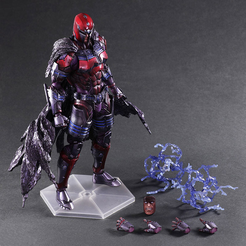 Play Arts Kai X-Men Magneto PVC Action Figure Collection Model Toy Christmas Gift 27cm kinston future road pattern pu leather full body case w stand for iphone 6 4 7 multicolored