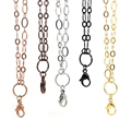 """Panpan 32"""" stainless steel  large flat oval link custom chain for locket"""