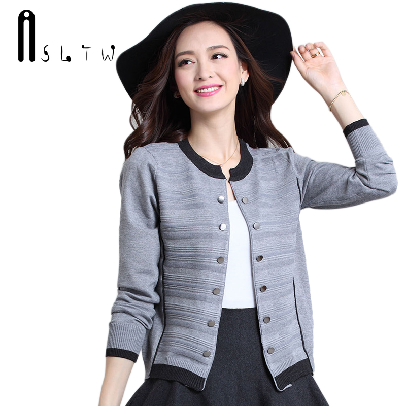 ASLTW Sweaters Woman Autumn Women Long Sleeve Sweater Cardigan Plus Size Short Design Outerwear Knitwear Cardigans