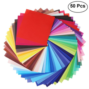 50 Sheets Vivid Colors Single Sided Origami Paper Square Sheet for Arts and Crafts Projects 20 * 20cm