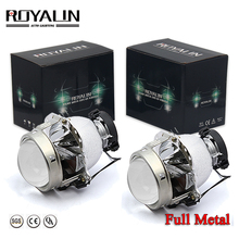 ROYALIN Car Styling 3.0 inch Bi Xenon Projector Lens for Hella 4 LHD RHD Full Matal Glasses Lenses Audi A6 Auto Use D1S D2S