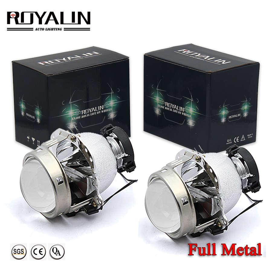 ROYALIN Hella EVOX 2,0 D2S proyector faros Bi xenón lente para BMW E39 E60 Ford Audi A6 C5 C6 W211 Passat B6 Skoda Fabia