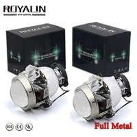 ROYALIN pour Hella EVOX 2.0 D2S projecteur phare Bi xénon lentille pour BMW E39 E60 Ford Audi A6 C5 C6 W211 Passat B6 Skoda Fabia