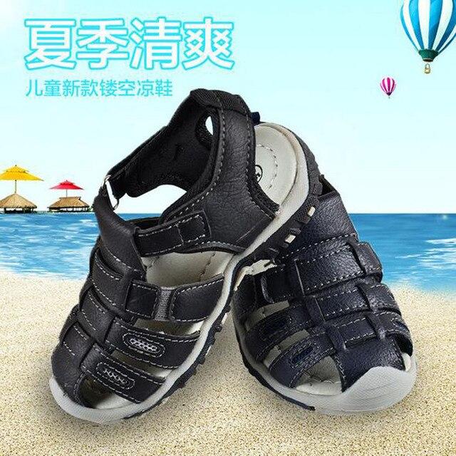 3025a9c6a90c 2017 Summer Kids Shoes Boys Fashion Sandals Kids Rain Children Sandals  Breatherable Chaussure Enfant Garcon Flats Shoes