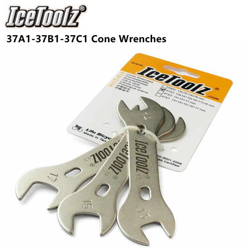 Cr-Mo steel Bike Spanner Tool 37A1 13mm and 14mm Hub Cone Wrench