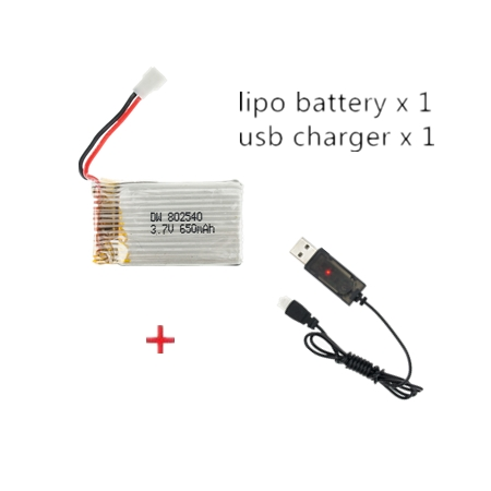 3.7v 350mah lipo battery usb charger cable for x5 x5c rc drone*b$