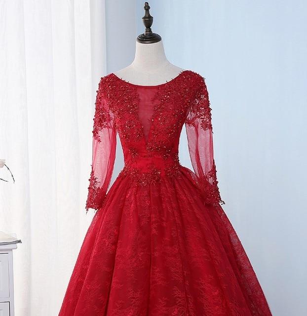 Online Shop Royal Blue Long Sleeve Lace Evening Dresses Party ...