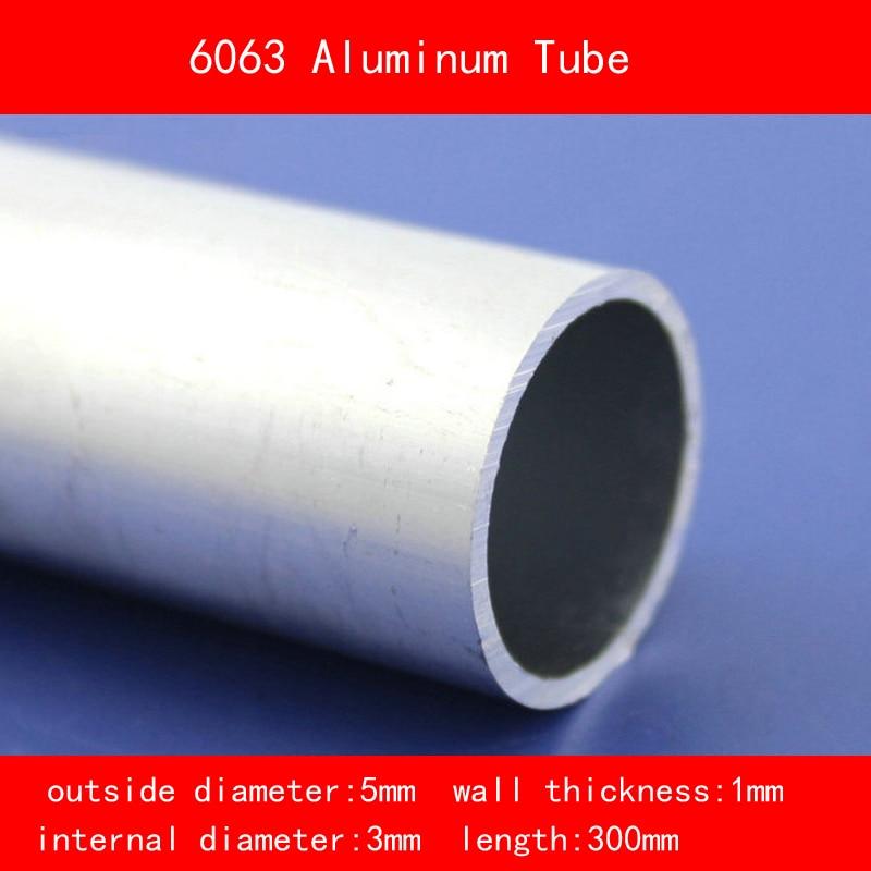 external diameter 5mm internal diameter 3mm wall thickness 1mm Length 300mm 6063 Aluminium Tube AL Pipe D5*D3*300MM include nickel 304 stainless steel pipe tube outer diameter 20mm wall thickness 1 5mm length 200mm