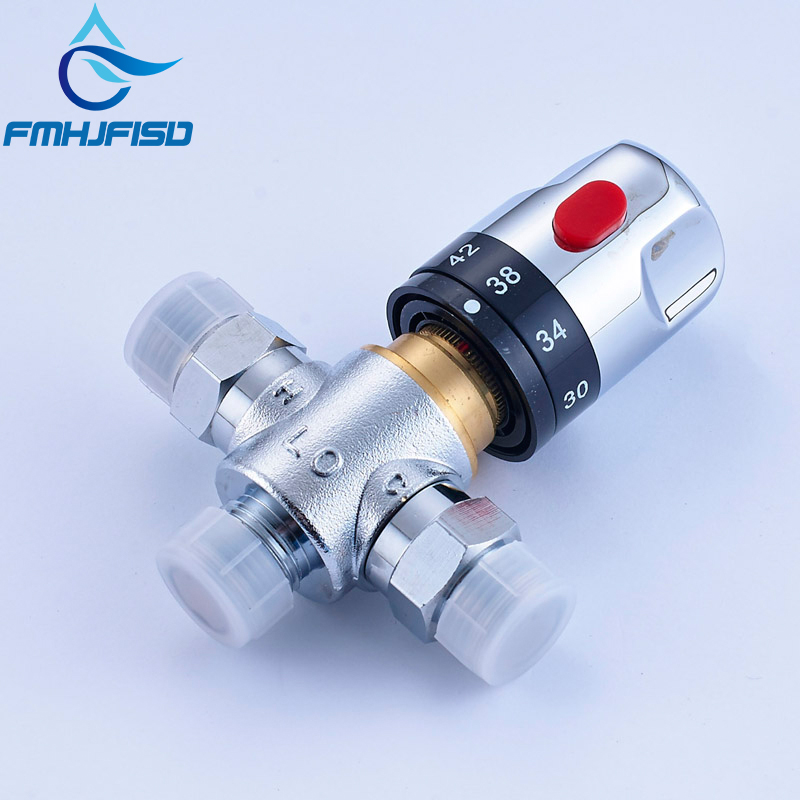 цены Bathroom Faucet Thermostatic Valve Standard 1/2 Brass Ceramic Replacement Thermostatic Cartridge Valve for Mixer Faucet