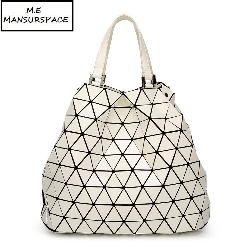 89d4a44f5c4 Detail Feedback Questions about MANSURSPACE Hot Sale bao Bag Geometric  Folding Luminous bucket bag Fashion Casual Women Tote Top Handle Bags High Quality  on ...