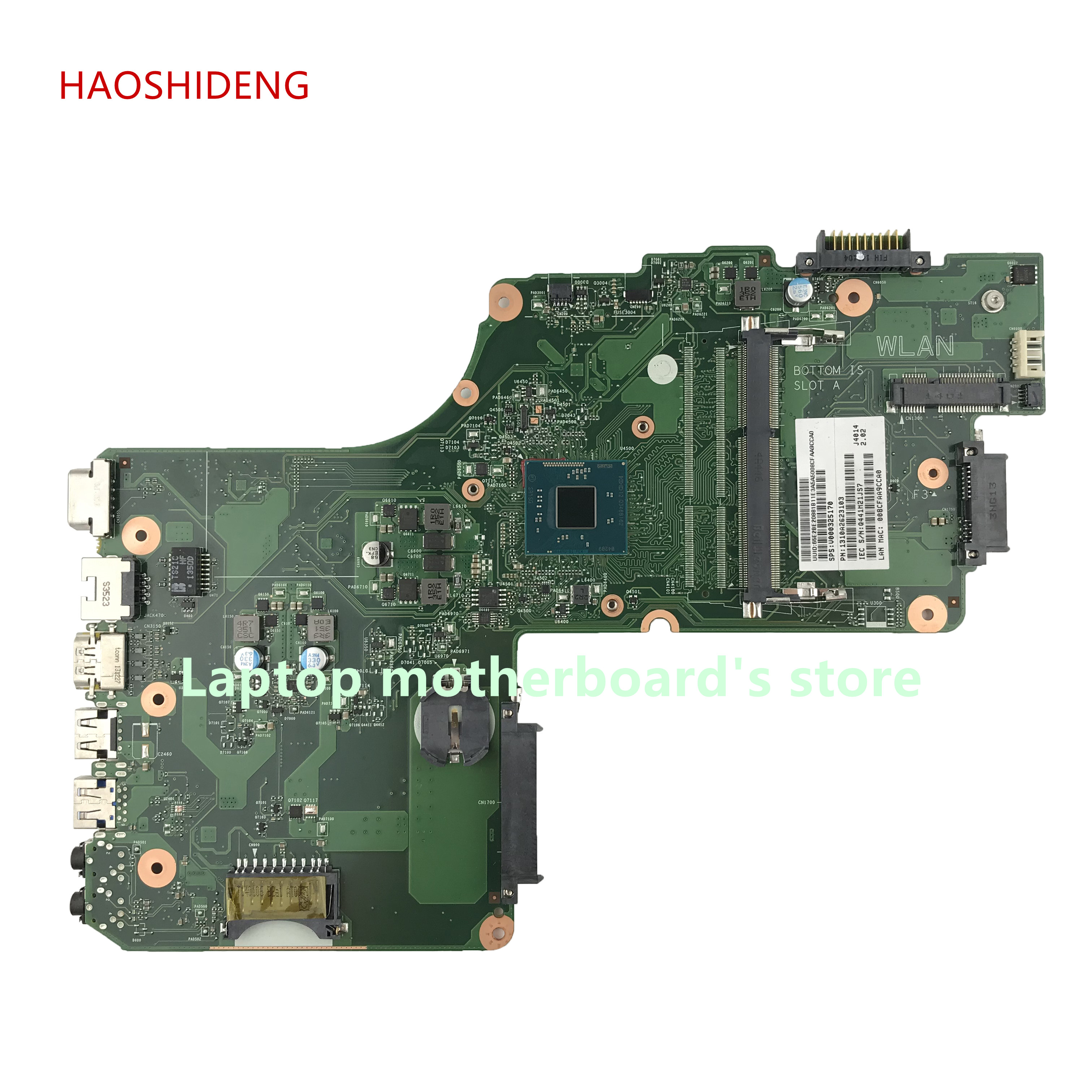 HAOSHIDENG V000325170 for TOSHIBA Satellite C50 C55 C55T C55T-A5123 laptop motherboard with N2820 2.13GHZ fully Tested
