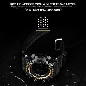 Image 3 - Bluetooth Uhr EX16 Smart Uhr Benachrichtigung Fernbedienung Schrittzähler Sport Uhr IP67 Wasserdichten männer Armbanduhr