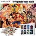 MOMEMO деревянный для взрослых паззл 1000 шт один кусок высокой четкости мультфильм аниме головоломки развлекательные игрушки 1000 шт головоломк...