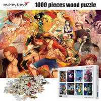 MOMEMO Adult Wooden Puzzle 1000 Pieces ONE PIECE High Definition Cartoon Anime Puzzles Entertainment Toys 1000 Pieces Puzzle