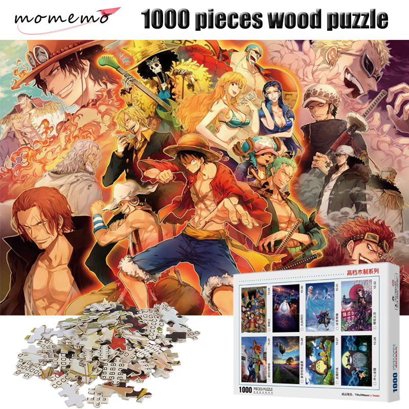 momemo adulto quebra cabeca de madeira 1000 pecas uma peca de alta definicao dos desenhos animados
