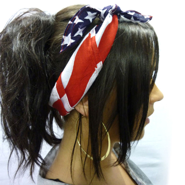 14 American Stars and Stripes USA Flag Bandana Hair Band 14%Top ...