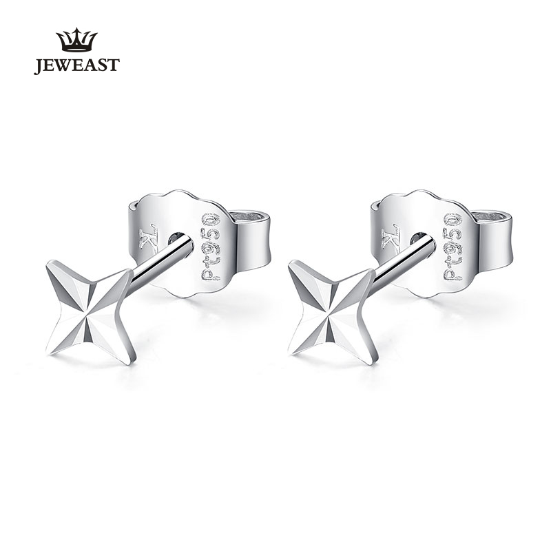 Pt950 Pure Gold Earring Real Platinum Solid Gold Earrings Shiny Star Upscale Trendy Classic Party Fine Jewelry Hot Sell New 2020