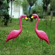 1 Шт. PE Реалистичные Искусственный Красный Фламинго Сад Двор Газон Рождество Рождественская