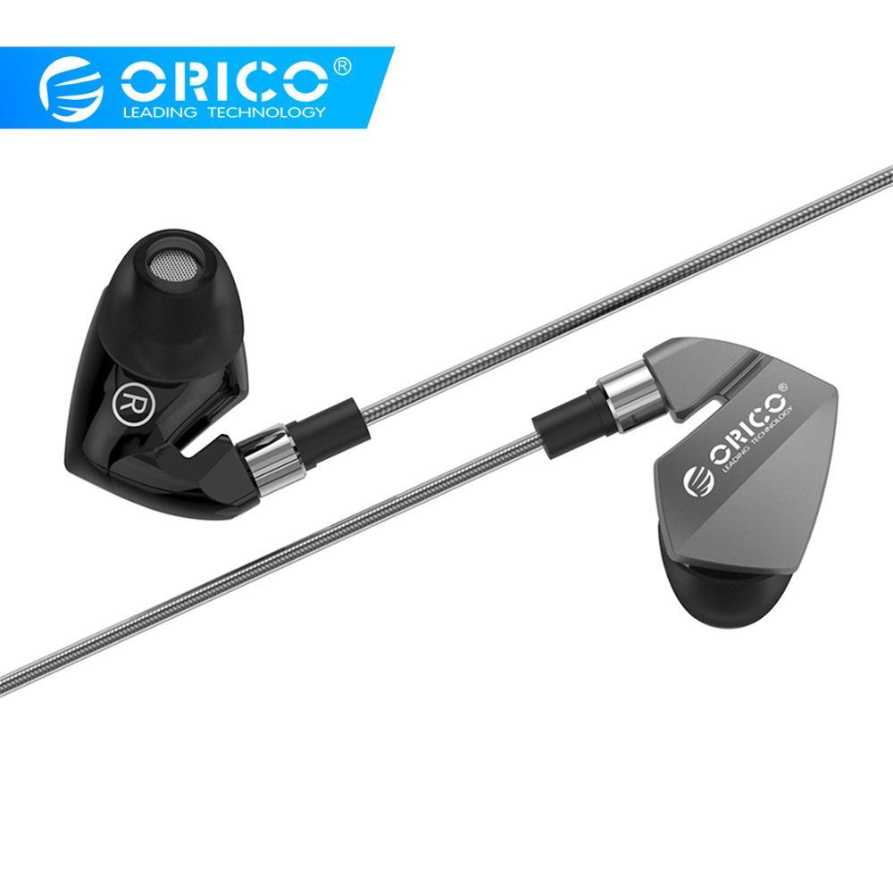 ORICO Super Bass Fone de Ouvido Fone de Ouvido Fone de Ouvido Música Esporte Stereo Som Fones de Ouvido com Microfone para iPhone Xiaomi 6 6s smartphones