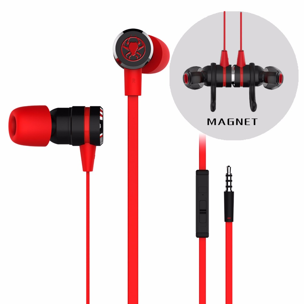 PLEXTONE G20 In-ear Earphone with Mic Stereo Gaming Headsets Wired Magnetic Deep Bass Headphone for Computer Phone PS4 Xbox