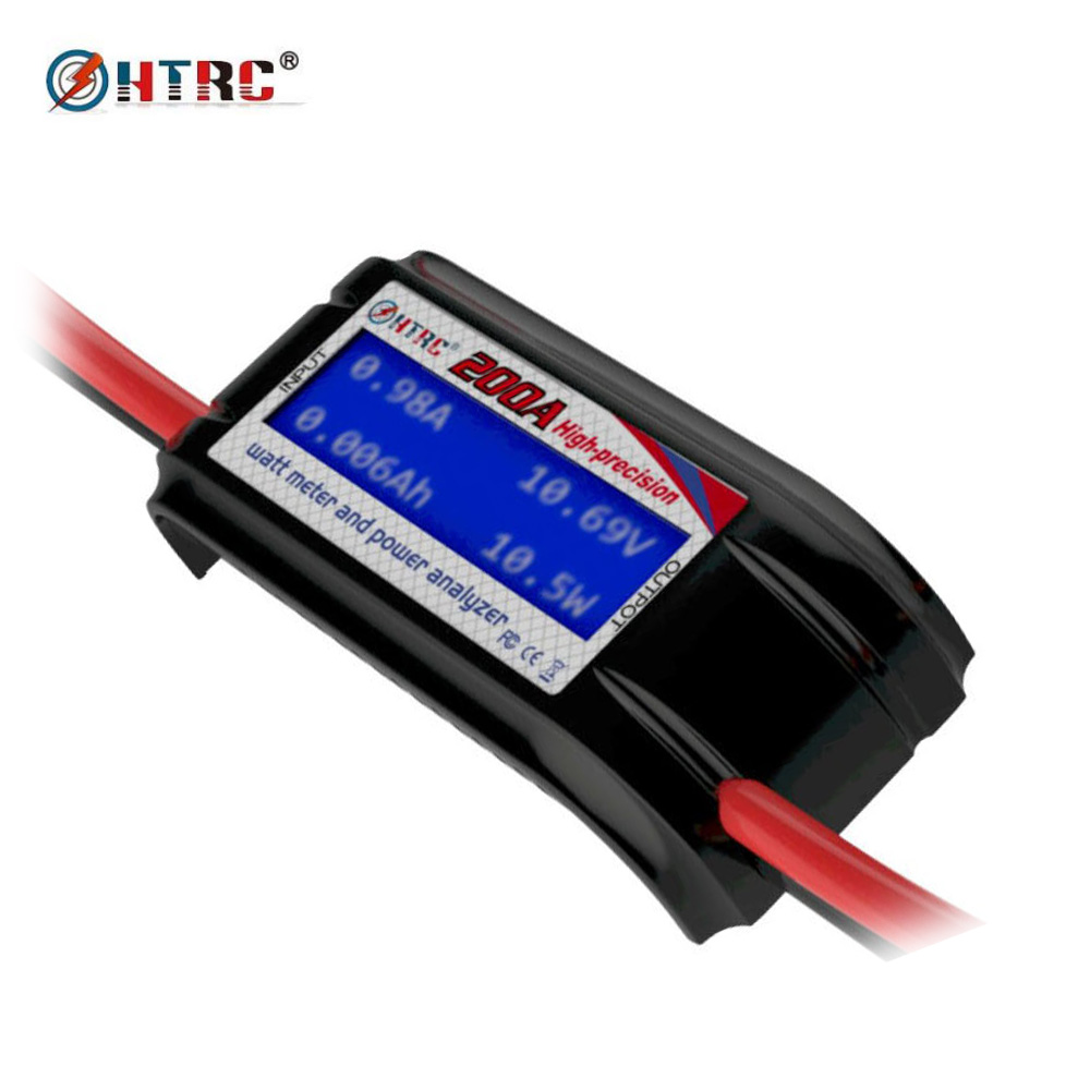 HTRC 60V 200A High Precision Watt Meter Voltage Amp Meter Power Analyzer 8 Gauge Wire g t power 130a 150a rc watt meter power analyzer digital lcd tester 12v 24v 36v high precision