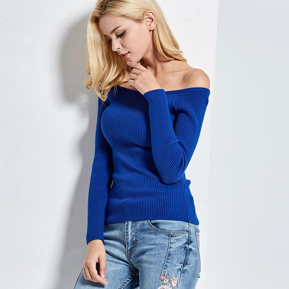 Basic Girls Boat neckline Strapless Sweater 1