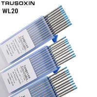 Accesorio para equipo de soldadura 10 piezas electrodo de tungsteno lantanado de cabeza azul aguja de tungsteno TIG/varilla de tungsteno/Pin de soldadura