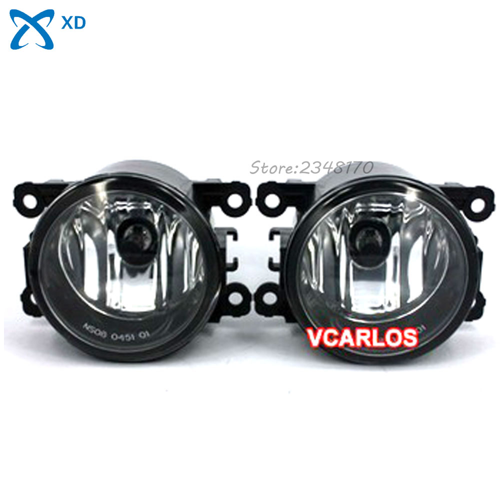 Fog Lights lamp for NISSAN PATROL 2010~ON Clear Lens PAIR SET + Wiring Kit fog light set Free Shipping for toyota corolla fielder corolla axio 2007 corolla 2010 led drl fog lights lamp clear lens pair with wiring kit fog light set