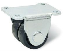 free shipping caster nylon wheel Material Handling Equipment Part Horizontal adjustment supporting caster Trolley wheel hardwaer