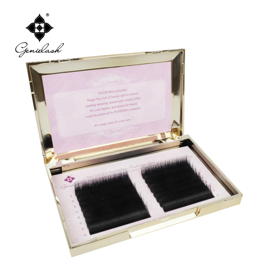 16 lines 0.07/0.10 3D-6D Volume False Eyelash Extension Mixed Lengths in One Strip Fancy Packing