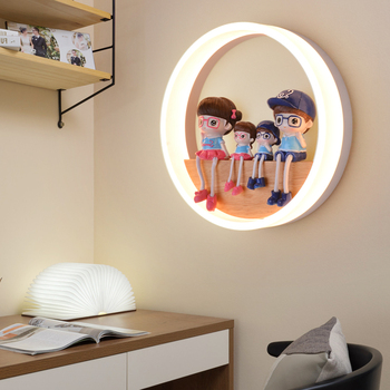 18W Living Room Bedroom Acrylic Wood Bedside Wall Light Warm White Cartoon Accessories Included Home Decor Lamp