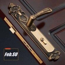 35-55 мм толщина двери дверная ручка латунный замок с 70 мм ключом замок