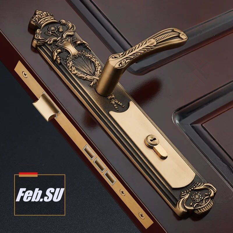 35-55MM DOOR THICKNESS DOOR HANDLE BRASS LOCK WITH 70MM KEY LOCK 35 55mm door thickness door handle brass lock with 70mm key lock page 4