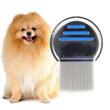 Pet Grooming Comb Dog Cat Fur Shedding Hair Removal Grooming Rake Comb Cleaning Brush Lice Fleas Remover