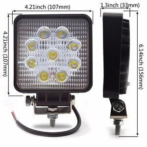 Image 2 - Safego 2X xe 27 W led làm việc ánh sáng đèn 12 V led lái xe đèn 4X4 ATV máy kéo offroad 27 W led worklight đèn sương mù cho xe tải 24 V