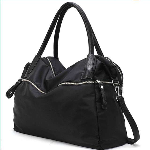 3653225b20 WOMEN Handbags Large Capacity BLACK Oversized waterproof Shoulder Bag  Casual Women polyester zipper Handbag Women Messenger Bags