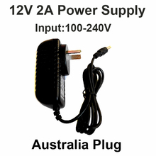 Hot 12V2A good quality Power supply adapter AU Australian plug for CCTV camera IP camera and DVR,AC100-240V to DC12V2A Converter