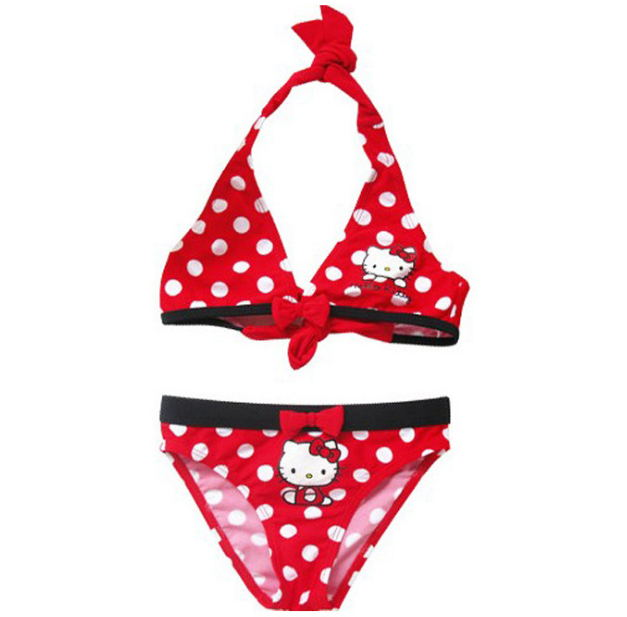 Cute Hello Kitty Children  Swimwear 2019 New Summer Children Split Two-piece Swimsuit Girl Bikini Girls Beautiful Baby Swimsuit