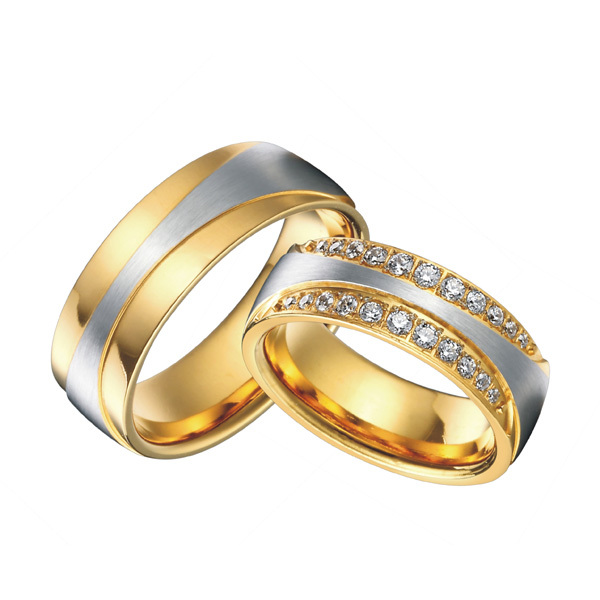 High End Luxury Handmade Custom Gold Color Health Titanium Steel Infinity Wedding Bands Rings Sets 1 Pair In From Jewelry Accessories On
