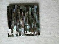 Hoa văn gạch 100% tự nhiên màu đen mẹ của gạch ngọc cho nội thất trang trí ngôi nhà bóng shell tường gạch ngói