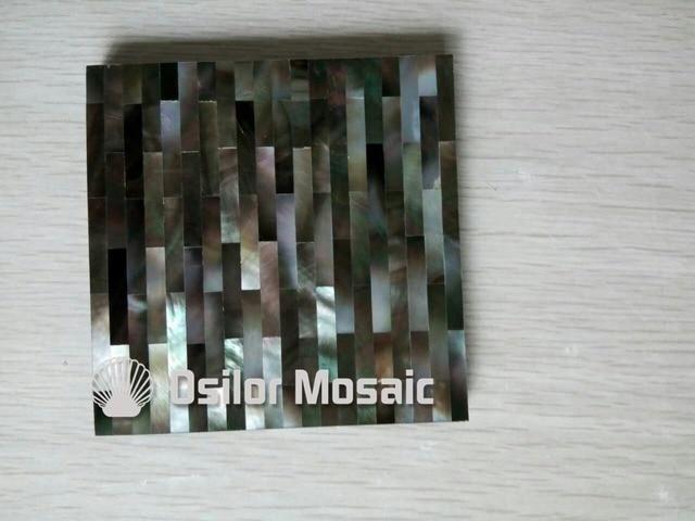 Modello di mattoni nero naturale madre di perla piastrelle