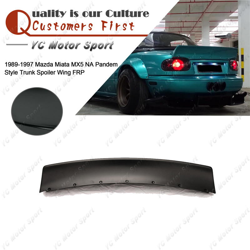 Car Accessories FRP Fiber Glass <font><b>Rear</b></font> Wing Fit For 1989-1997 Miata <font><b>MX5</b></font> NA PD Style Trunk <font><b>Spoiler</b></font> Wing image