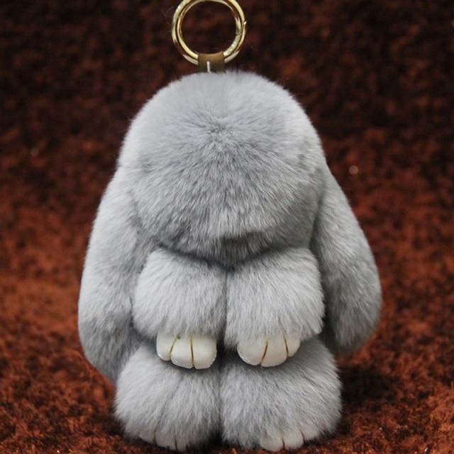 2017 Promotion Direct Selling Fashion Solid Barrel-shaped Unisex Rex Rabbit Fur Bag Pendant Mink Dead Meng