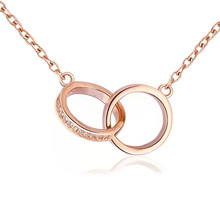 [FCY] new rose gold necklace neck chain female fashion short clavicle niche jewelry