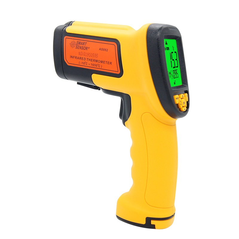 Non-contact Laser LcdDisplay 50:1 Digital IR infrared thermometer Temperature Meter Gun Point -18~1650 Degree Smart Sensor AS882 holdpeak hp 1320 digital laser infrared ir thermometer gun meter non contact 50 1500c temperature tester pyrometer
