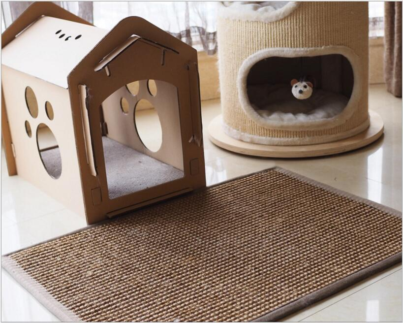 Natural Sisal Toy For Cats Catnip Tower Climb Tree Cat Scratch Pad Board Protect Furniture Foot Cat Litter Mat Cat Scratch Post