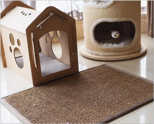 Natural Sisal Toy For Cats Catnip Tower Climb Tree Cat Scratch Pad Board Protect Furniture Foot