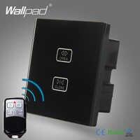 ขายร้อน Gateway WIFI ผ้าม่านสวิทช์ Wallpad แก้ว 2 Gang Wireless WIFI รีโมทคอนโทรลผ้าม่านหน้าต่างชัตเตอร์ควบคุมสวิทช์