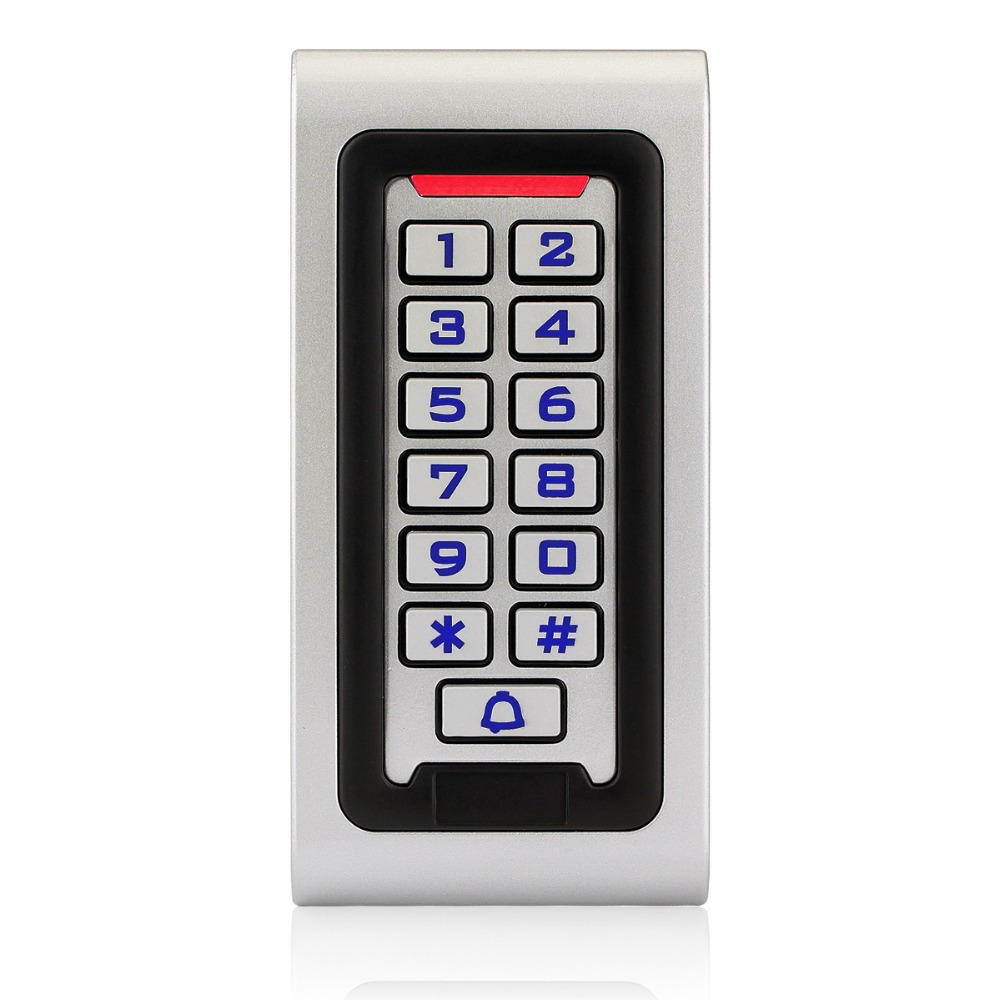 Waterproof IP68 RFID 125KHZ ID Keypad Single Door Stand-alone Access Control & Wiegand 26 bit I/O with Metal Case F1215D